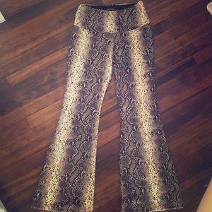 Pants - Snakeskin print bell bottoms